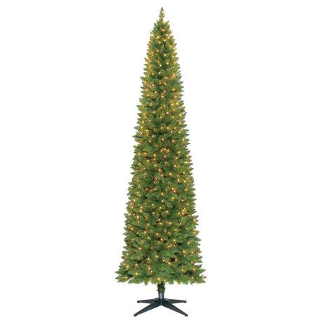 holiday time 9 dawson pencil pine christmas tree with clear lights walmart canada - Holiday Time Christmas Tree