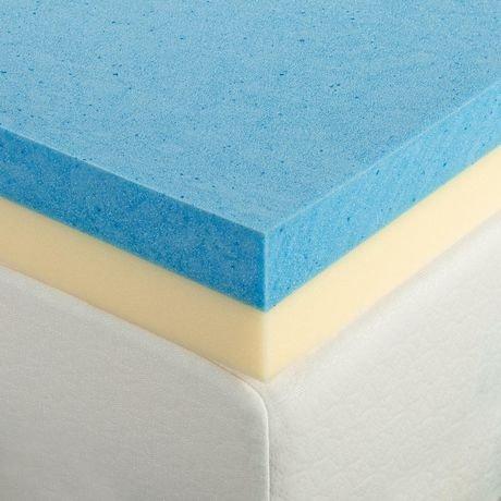 Zinus 4 Quot Gel Memory Foam Mattress Topper Walmart Canada