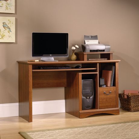 Sauder Computer Desk Planked Cherry Finish 101730