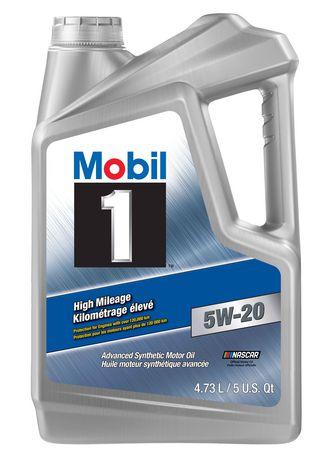 Mobil 1™ Kilométrage élevé  5W-20 - image 1 de 1