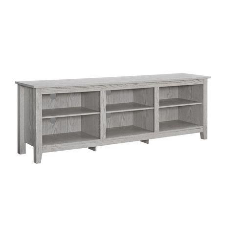 console pour t l viseur et rangement m dias en bois de 177 8 cm 70 po lavis blanc walmart. Black Bedroom Furniture Sets. Home Design Ideas