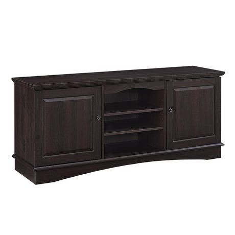 console pour t l viseur et rangement m dias en bois de 152 4 cm 60 po expresso walmart canada. Black Bedroom Furniture Sets. Home Design Ideas