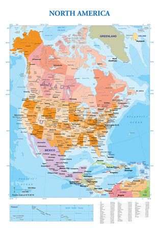 Map Map Of North America Walmart Canada - Map of north america canada