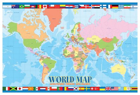 World map for kids walmart canada gumiabroncs Gallery