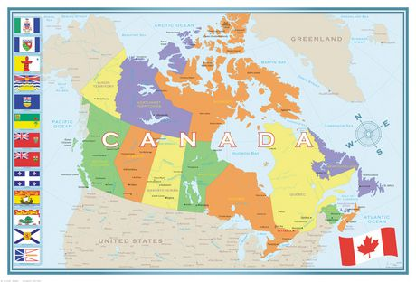 Eurographics Map - Map of Canada | Walmart Canada on