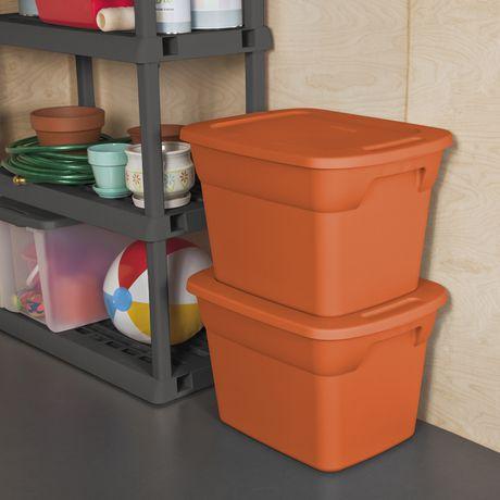 Sterilite Orange Tote Walmart Canada