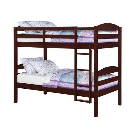 Mainstays Twin Twin Wood Bunk Bed