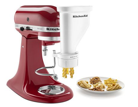 With a KitchenAid pasta attachment, you can create delicious pasta whenever you want, right from your own kitchen, just like the pros on television. The KitchenAid pasta mixer attachments connect to any standard KitchenAid mixer.