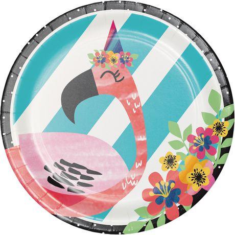 Creative Converting Flamingo Party Paper Plates | Walmart Canada