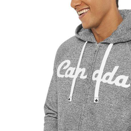 Chandail raglan à capuchon avec fermeture éclair Canadiana pour hommes - image 4 de 6