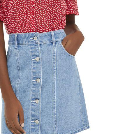 Mini-jupe en denim George pour femmes - image 4 de 6