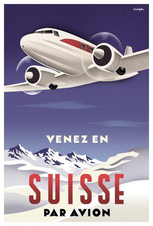 Eurographics Crampton - Suisse Par Avion - image 1 of 1
