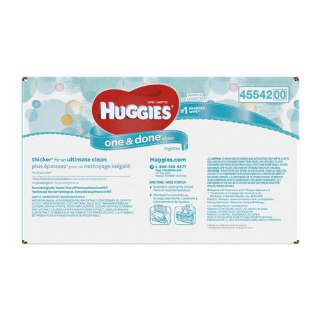 Huggies One And Done Refreshing Baby Wipes Refill Pack
