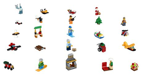 Calendrier De L Avent Lego City 2020.Lego City Town Le Calendrier De L Avent Lego City 60155