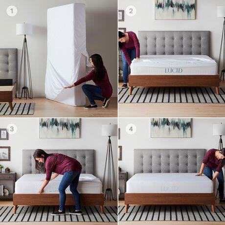 Lucid Zippered Mattress Encasement Bed Bug and Waterproof ...
