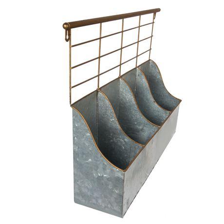 Truu Design Boite de rangement 4 compartiments avec rack - image 3 de 6