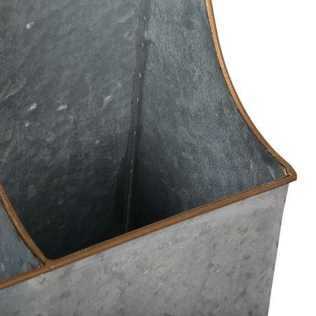 Truu Design Bac de rangement 2 compartiments avec rack - image 4 de 5