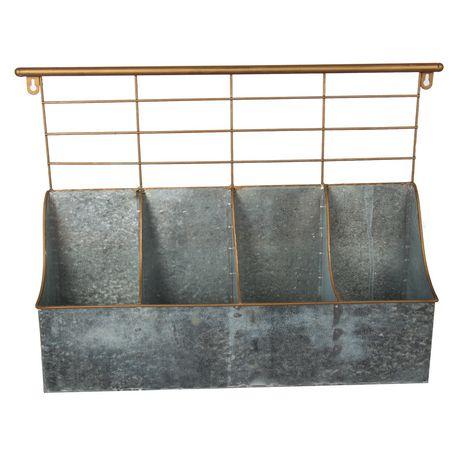 Truu Design Boite de rangement 4 compartiments avec rack - image 2 de 6