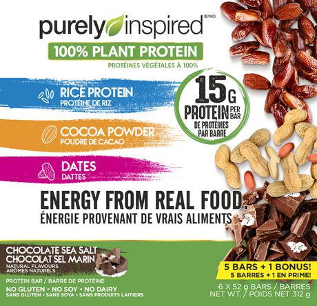 Purely Inspired Protein Bars, Chocolate Sea Salt - image 1 of 2