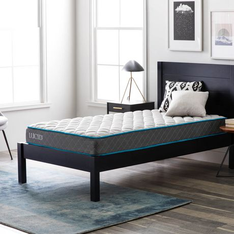 Lucid 7 Inch Bounder Innerspring Mattress with Quilted Fabric Cover - image 2 of 7