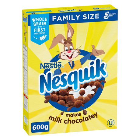 Nesquik Milk Chocolatey Cereal, Family Size - image 1 of 6
