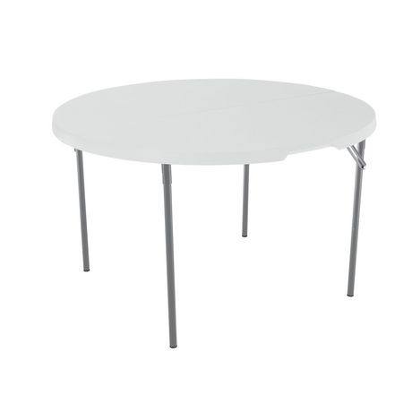 Table pliante en deux l g re commerciale ronde de 122 cm for Lifetime table pliante