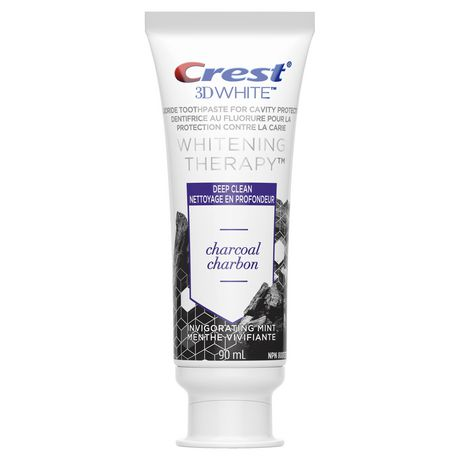 Crest 3D White Whitening Therapy Charcoal Deep Clean Fluoride Toothpaste, Invigorating Mint - image 2 of 7