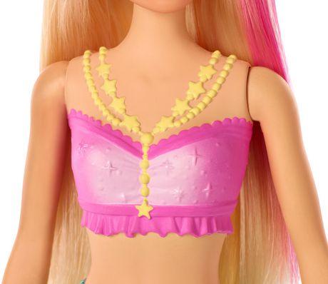 Barbie – Dreamtopia – Poupée Sirène Lumières Étincelantes, cheveux blonds - image 6 de 9