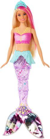 Barbie – Dreamtopia – Poupée Sirène Lumières Étincelantes, cheveux blonds - image 1 de 9