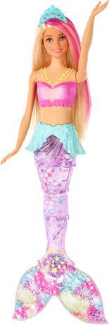 Barbie – Dreamtopia – Poupée Sirène Lumières Étincelantes, cheveux blonds - image 4 de 9