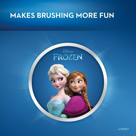 Oral-B Kids Electric Toothbrush Featuring Disney's Frozen with 2 Sensitive Brush heads, Powered by Braun, for Kids 3+ - image 7 of 9