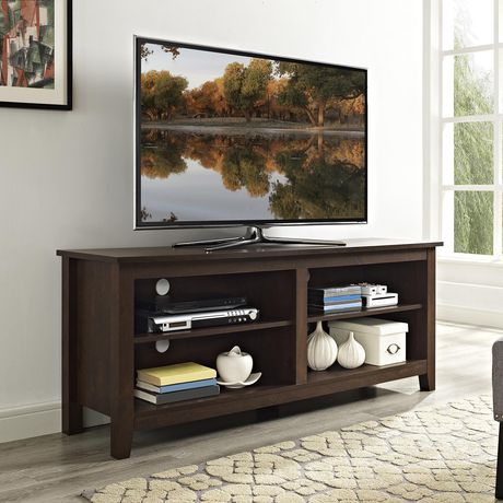 """Manor Park 58"""" Wood TV Media Stand Storage Console - Traditional Brown - image 1 of 7"""