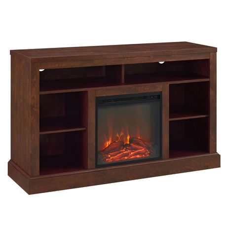 """Manor Park Rustic Fireplace TV Stand with Open Storage For TV's up to 56"""" - Brown - image 1 of 4"""