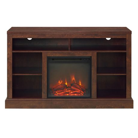 """Manor Park Rustic Fireplace TV Stand with Open Storage For TV's up to 56"""" - Brown - image 3 of 4"""