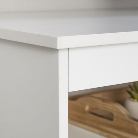 "Manor Park 58"" Wood Simple Contemporary Console - White - image 5 of 6"
