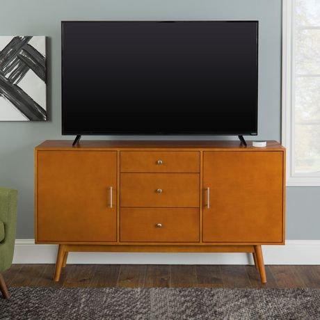console pour t l viseur en bois moderne ann es 50 de 152 4 cm 60 po noyer walmart canada. Black Bedroom Furniture Sets. Home Design Ideas