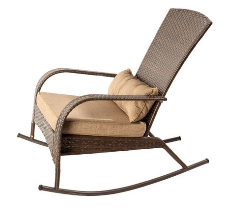 patio flare collection one wicker muskoka rocking chair