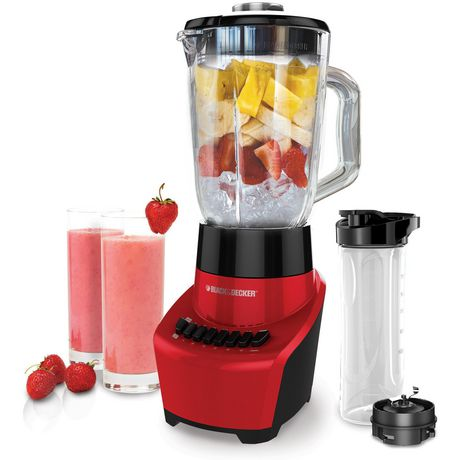 Black + Decker Blender with 6-Cup Glass Jar, Red - image 1 of 6