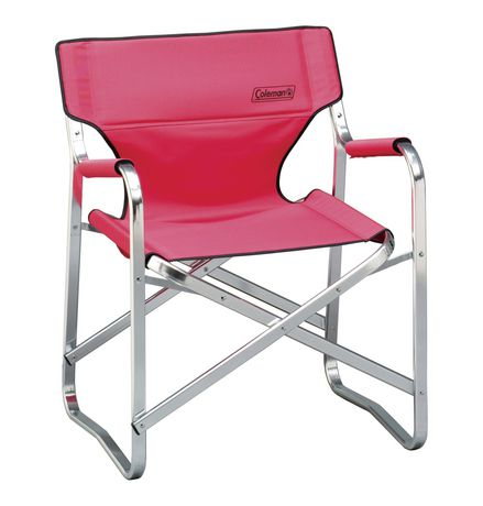 Coleman Steel Deck Chair Blue/Red - Assortment - image 1 of 2