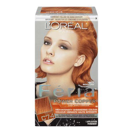 loral paris fria power copper avec ampli couleur coloration c74 - Coloration Temporaire L Oreal
