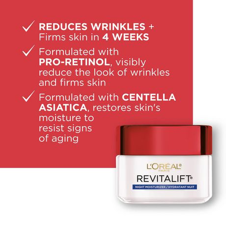 L'Oréal Paris Revitalift Night Cream | Walmart.ca