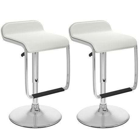 Tabouret de bar Nicer Furniture en vinyle blanc - image 1 de 1