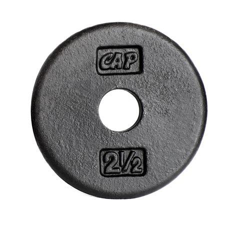 Disques en fonte CAP Barbell de 1 pouce, noir, simple, 2.5 livres - image 1 de 1