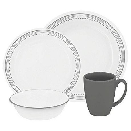 sc 1 st  Walmart Canada & Corelle® Mystic Grey Dinnerware Set 16pc | Walmart Canada