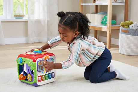 vtech sort discover activity cube interactive learning toy english. Black Bedroom Furniture Sets. Home Design Ideas