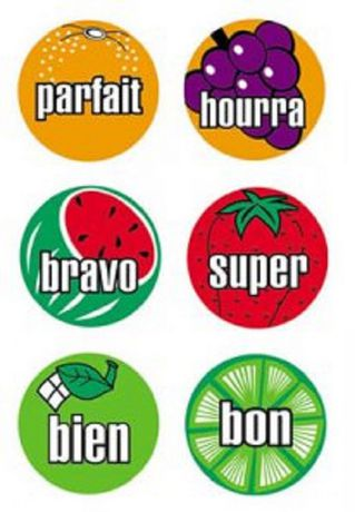 Poster Pals French Mini Fruit Stickers - image 1 of 1