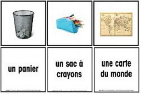 French Objects Found In The Classroom Flashcards - image 1 of 1
