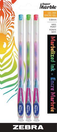 Zebra Super Marble Assorted Gel Ink Pen Walmart Canada