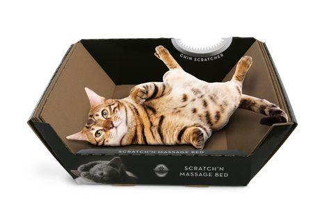 Lit de carton d'ondulation Omega Paw pour chats - image 1 de 1