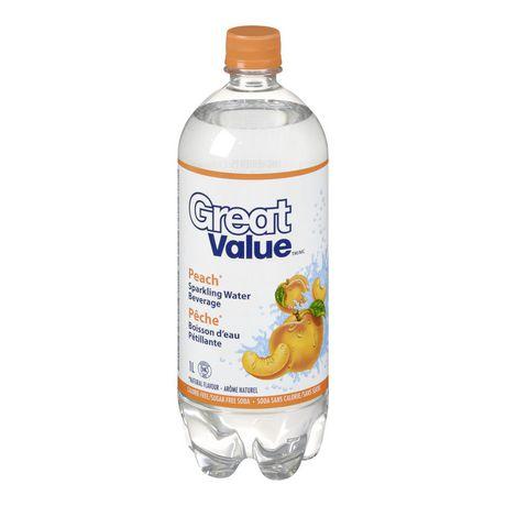 Great Value Peach Sparkling Water Beverage Walmart Canada